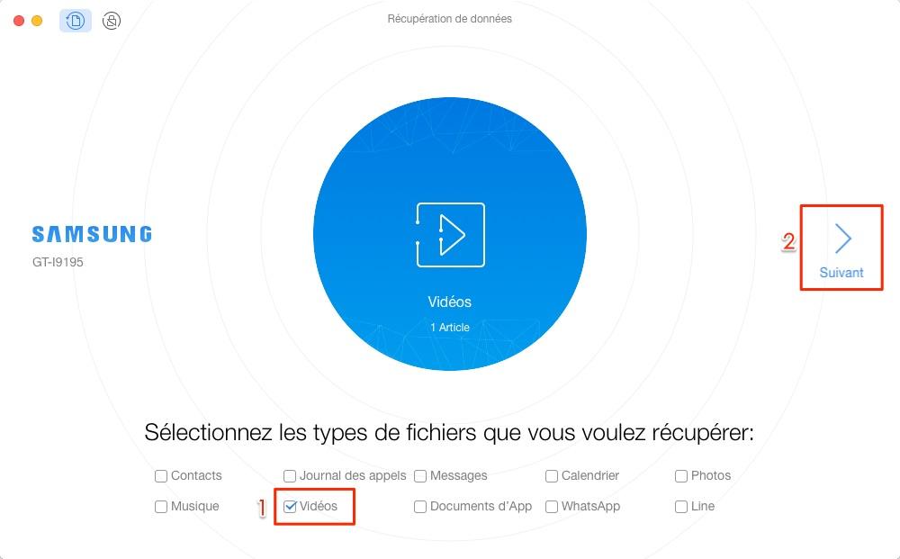 Retrouver vidéos depuis téléphone Android - étape 1