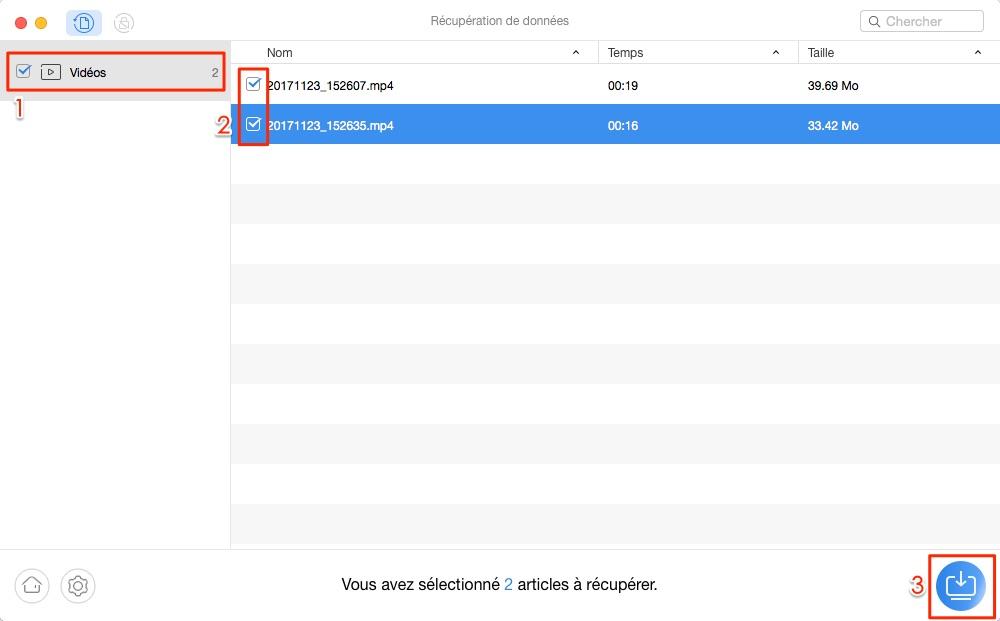 Comment récupérer les vidéos perdues depuis téléphone Android - étape 2