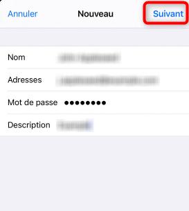 Configuration manuelle du mail