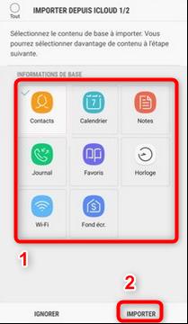 Transférer les données iPhone vers Samsung