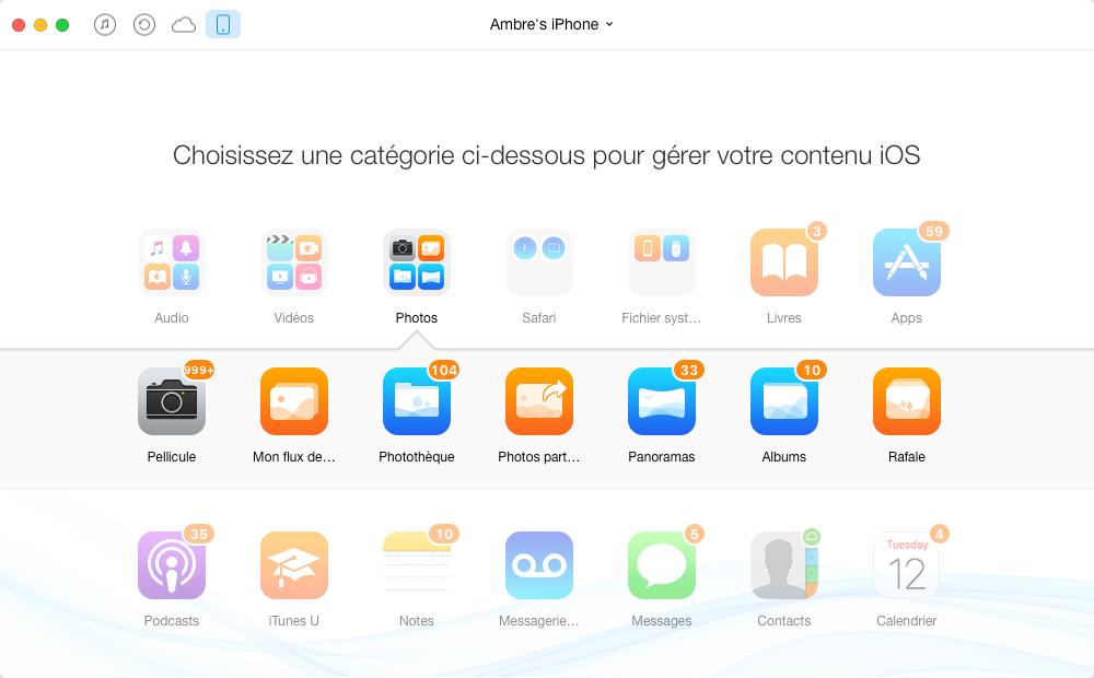 Comment sauvegarder les fichiers spécifiques de l'iPhone sur l'ordinateur