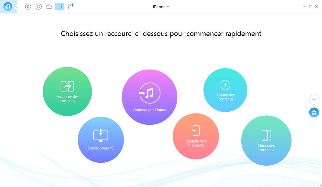 Sauvegarder applications iPhone sur PC- étape 1