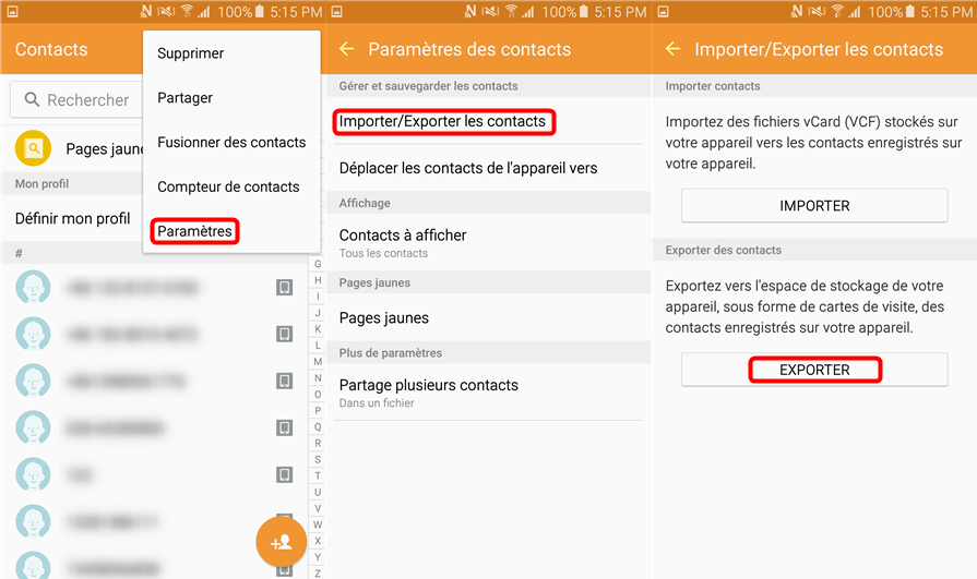 Sauvegarder les contacts HUAWEI via Google Drive