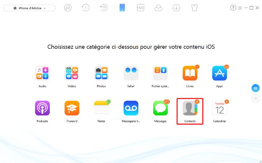 Comment sauvegarder les contacts iPhone 6 sur PC - étape 2