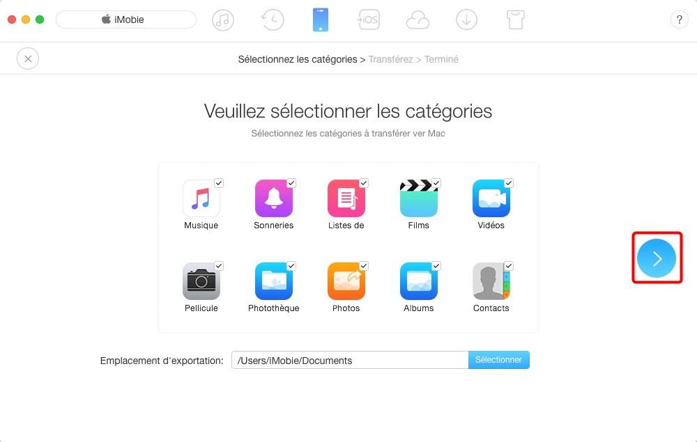Sauvegarder iPhone 8 sur Mac avec AnyTrans