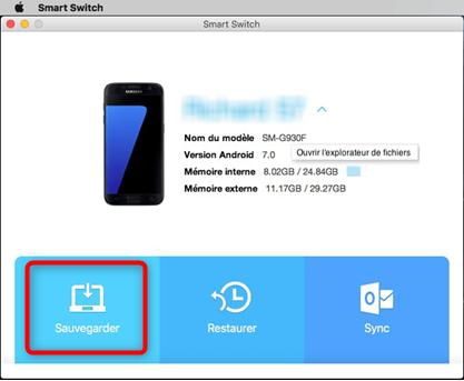 Copier les données Samsung vers Mac