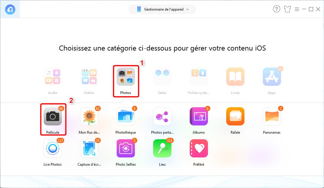 Comment sauvegarder sélectivement votre iPhone XS (Max)/XR - Étape 2