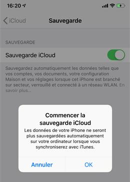 Sauvegarder les contacts iPhone via iCloud