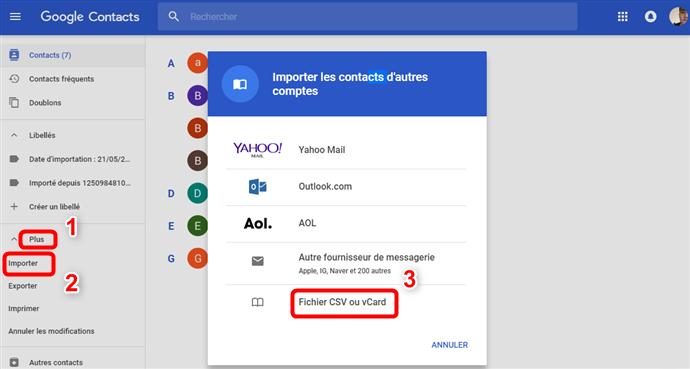Sauvegarder les contacts iPhone via Gmail