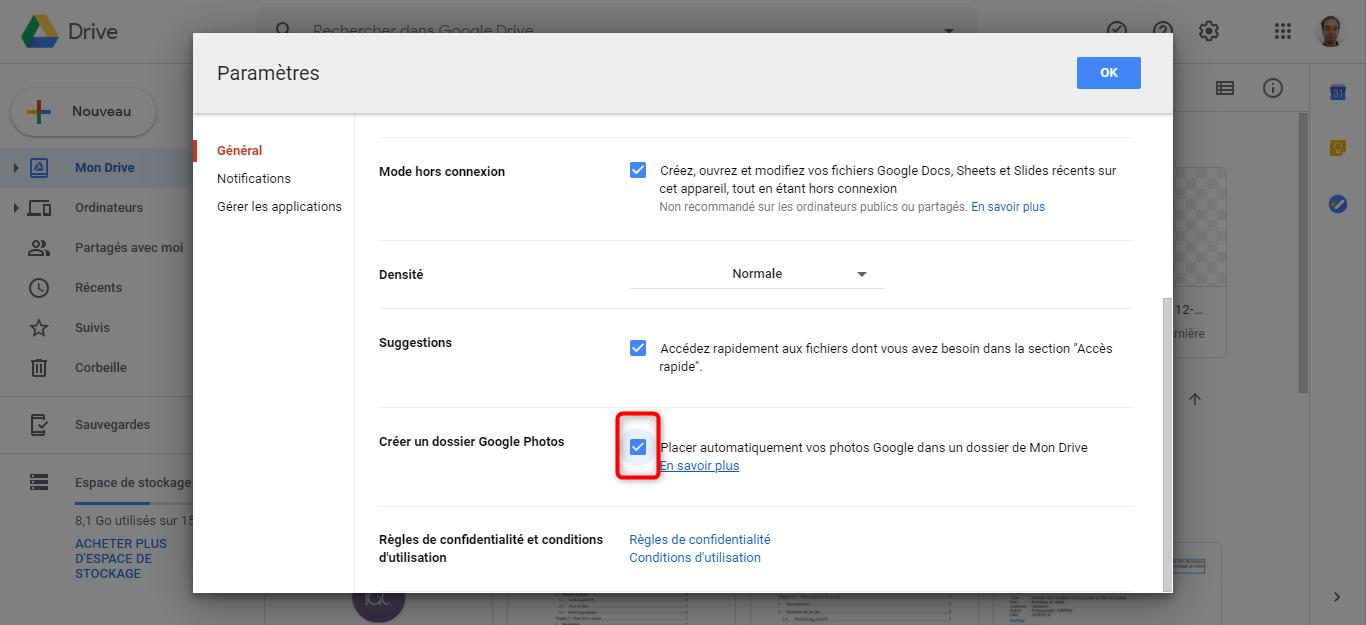Sauvegarder les photos Samsung via Google Drive - étape 2