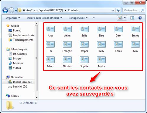 Enregistrerle répertoireiPhone sur PC/Mac