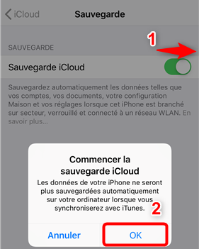 Sauvegarder ses SMS de l'iPhone via iCloud