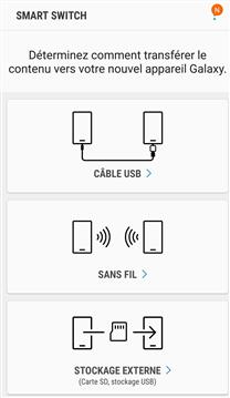 Sauvegarde Samsung avec Smart Switch - étape 1