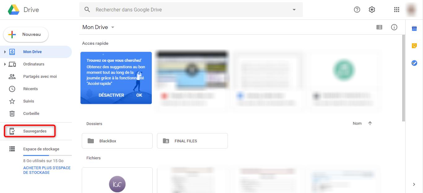 Commencer à sauvegarder Samsung sur Mac avec Google Drive - étape 1