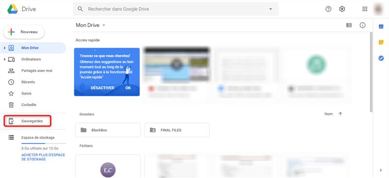 Commencer à sauvegarder Samsung sur Mac avec Google Drive