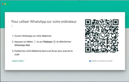 Démarrage de WhatsApp sur Mac