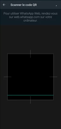 Scan du QR code sur le PC