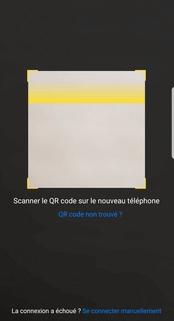 Le QR code nécessaire à la connexion
