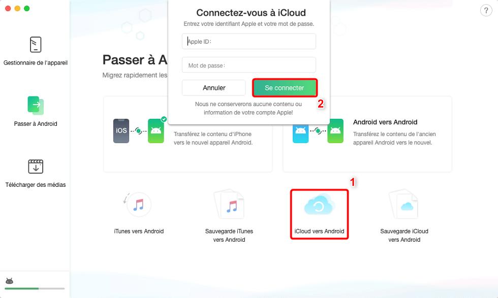 Connectez-vous à iCloud