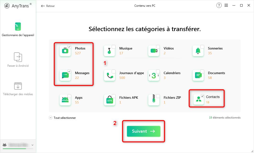 Transfert de données Samsung vers Xiaomi