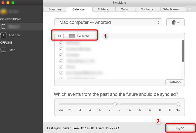 Synchronisation du calendrier Samsung avec Mac