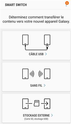 Les moyens de connexion pris en charge par Smart Switch