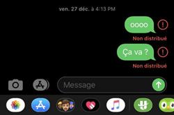 SMS non distribué