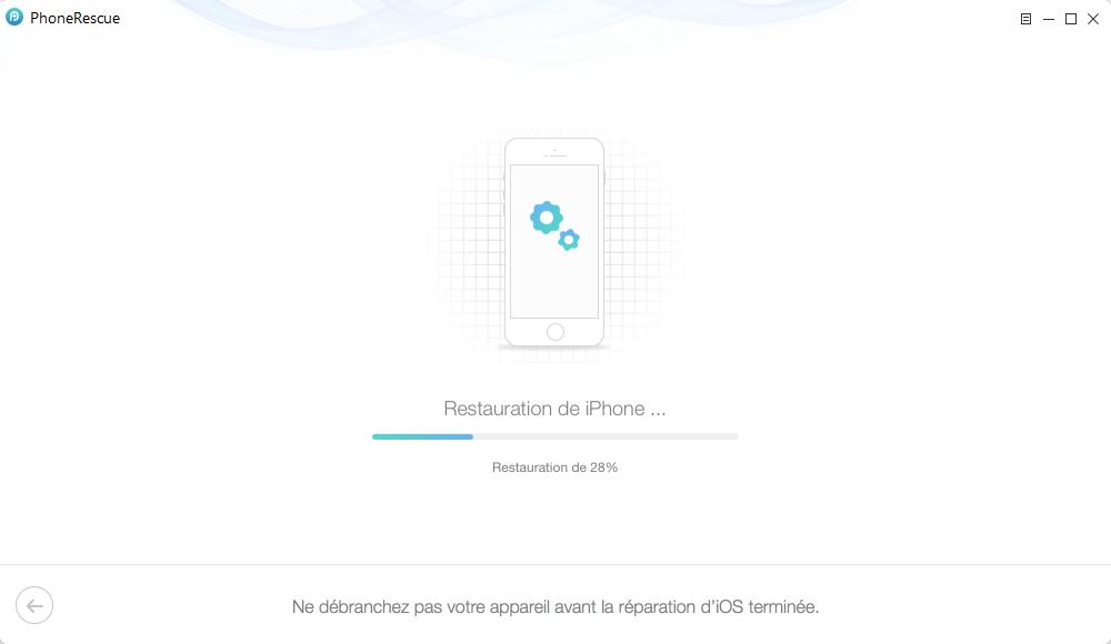 Comment fixer iPhone 5s en écran bleu – étape 4
