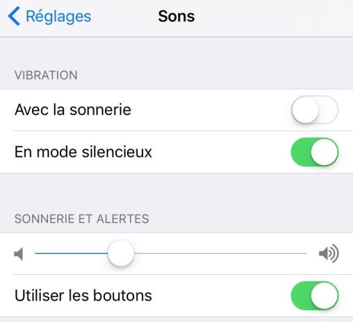 Problème de sonneries iOS 13 – Sonnerie