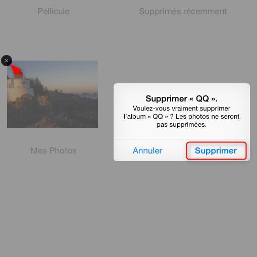 Comment supprimer les albums d'iPad – étape 2