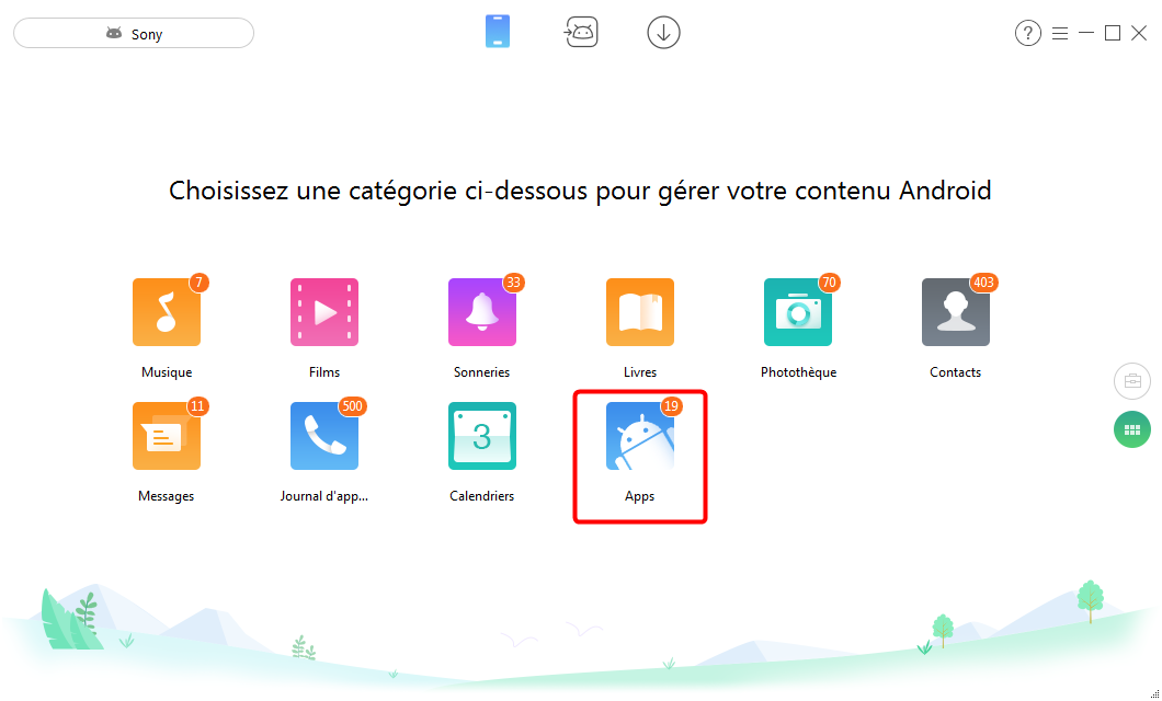 Supression des applications sur Sony Xperia - étape 2