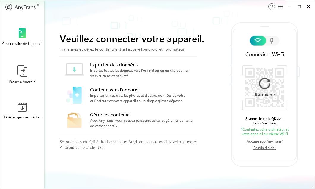 Téléchargez et lancez l'App AnyTrans pour Android - 1