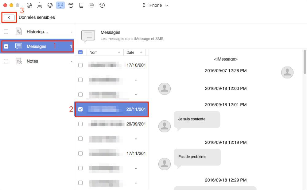Comment supprimer des messages définitivement iPhone/iPad – étape 3