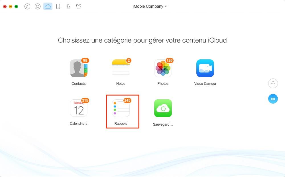 Comment supprimer des rappels d'iCloud – étape 2