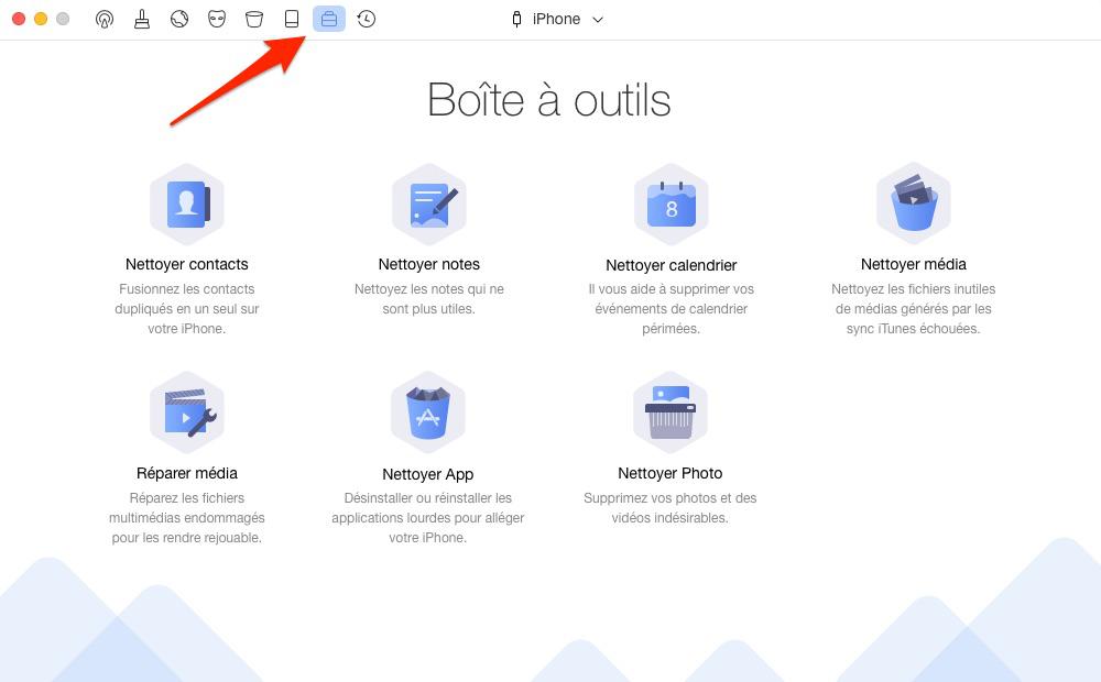 Supprimer éléments de calendriers sur iPhone – étape 1