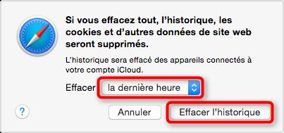 Supprimer l'historique de Safari sur Mac - étape 3