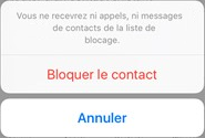 Bloquer un contact