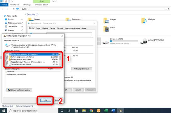 Supprimer les fichiers temporaires sous Windows