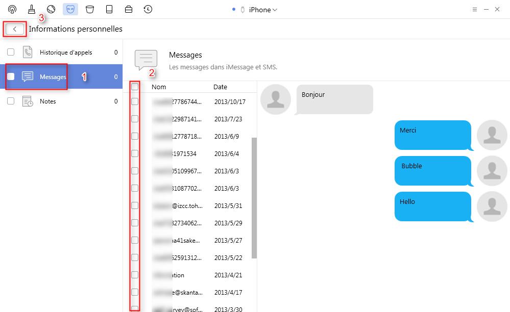 Supprimer les messages iPhone 7 facilement – étape 32