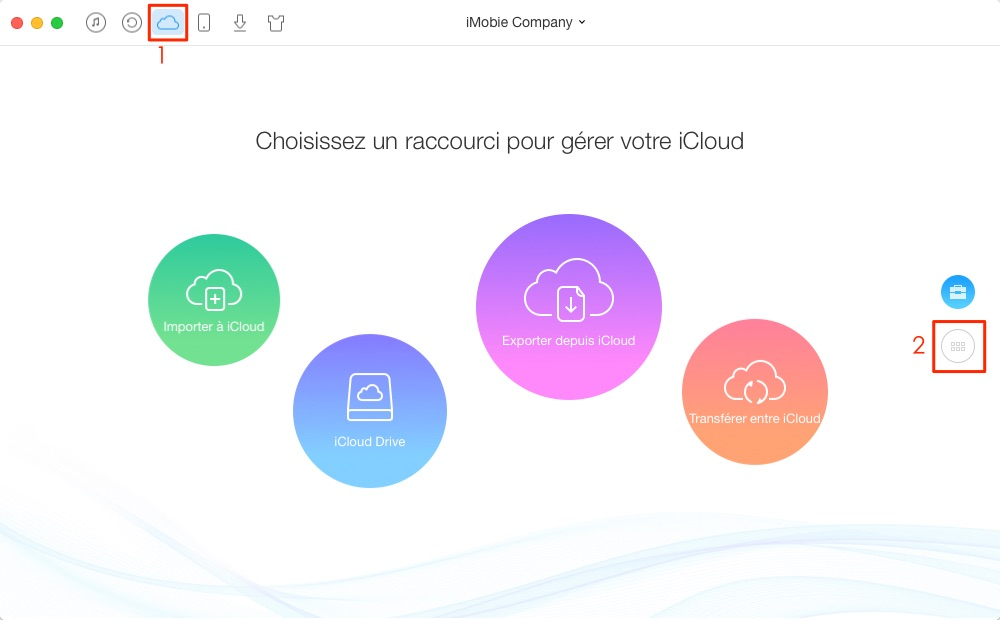 Suppression des notes d'iCloud – étape 1