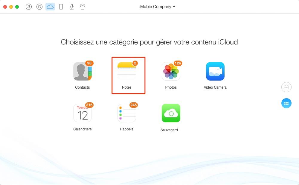 Comment supprimer les notes sur iCloud – étape 2