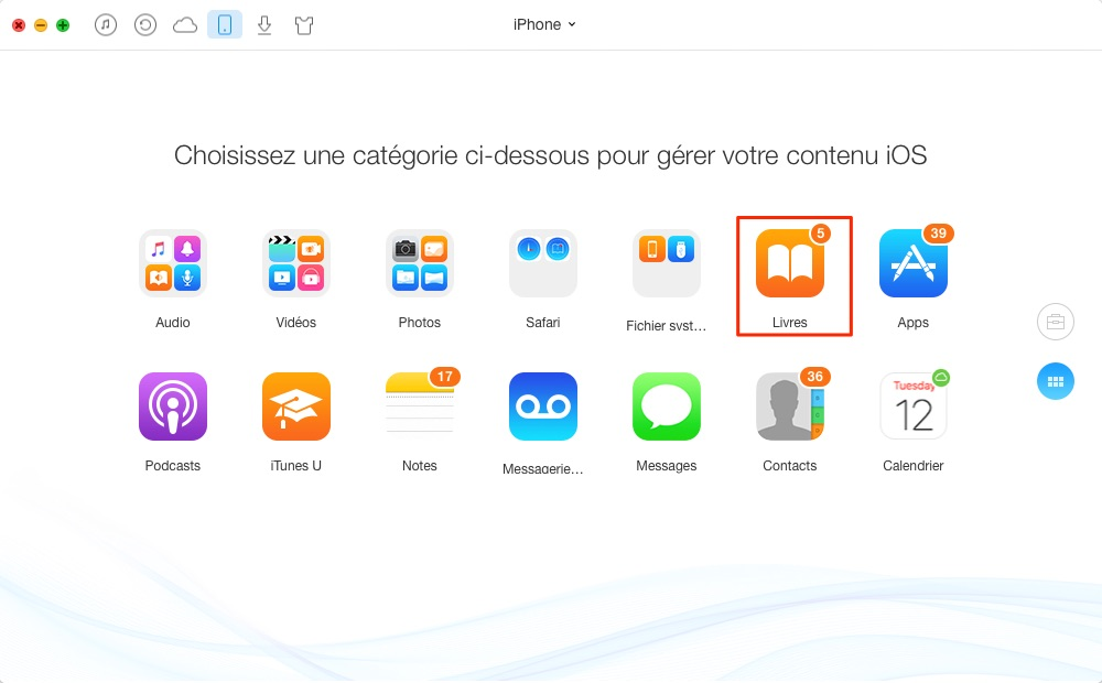 Suppression des fichiers PDF iPhone/iPad – étape 2