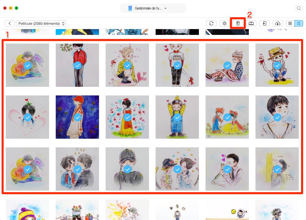 Comment supprimer les photos iPad – étape 3