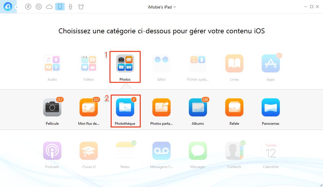 Comment supprimer un album iPad – étape 2