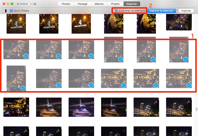 Comment supprimer photos iPhone depuis Mac