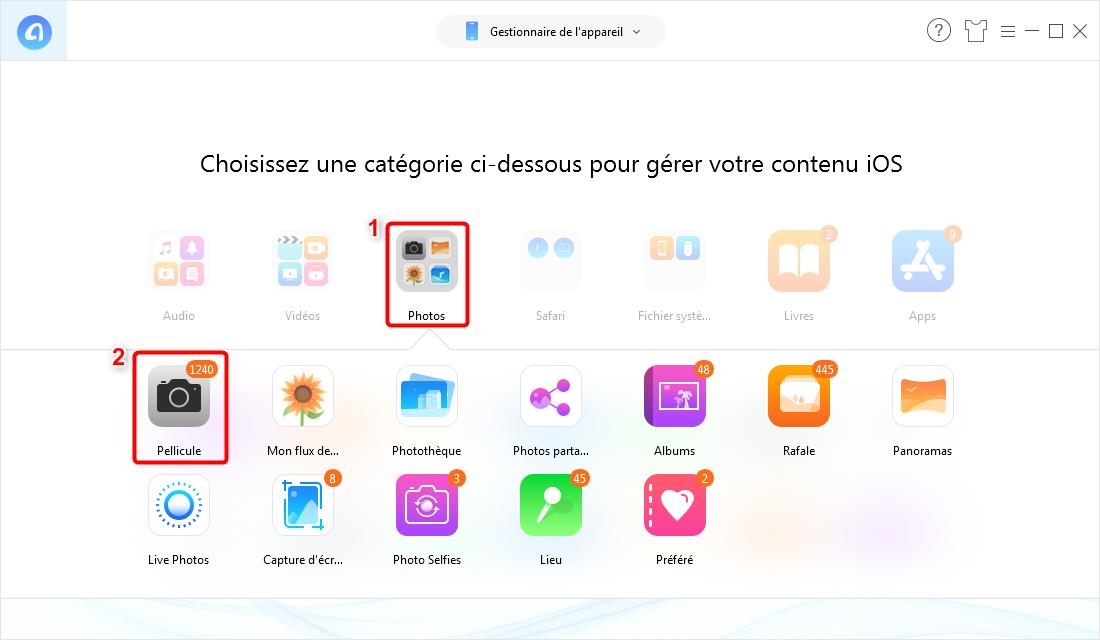 Comment supprimer les photos iPhone – étape 2