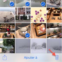 Supprimer les photos d'iPhone – étape