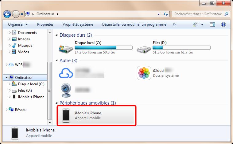 Trouvez appareil dans l'explorateur Windows
