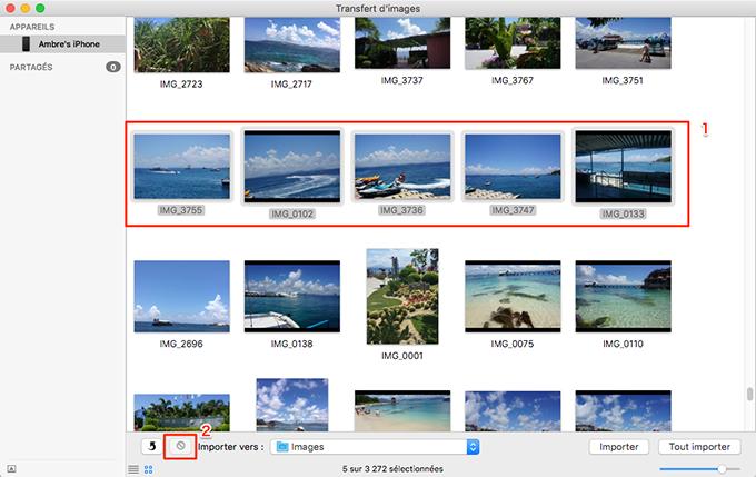 Vider les photos iPhone sur Mac - 1