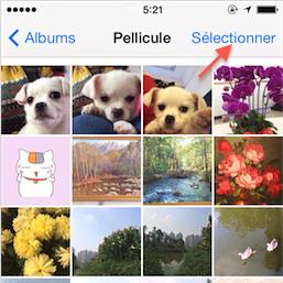 Supprimer les photos d'iPhone – étape 1